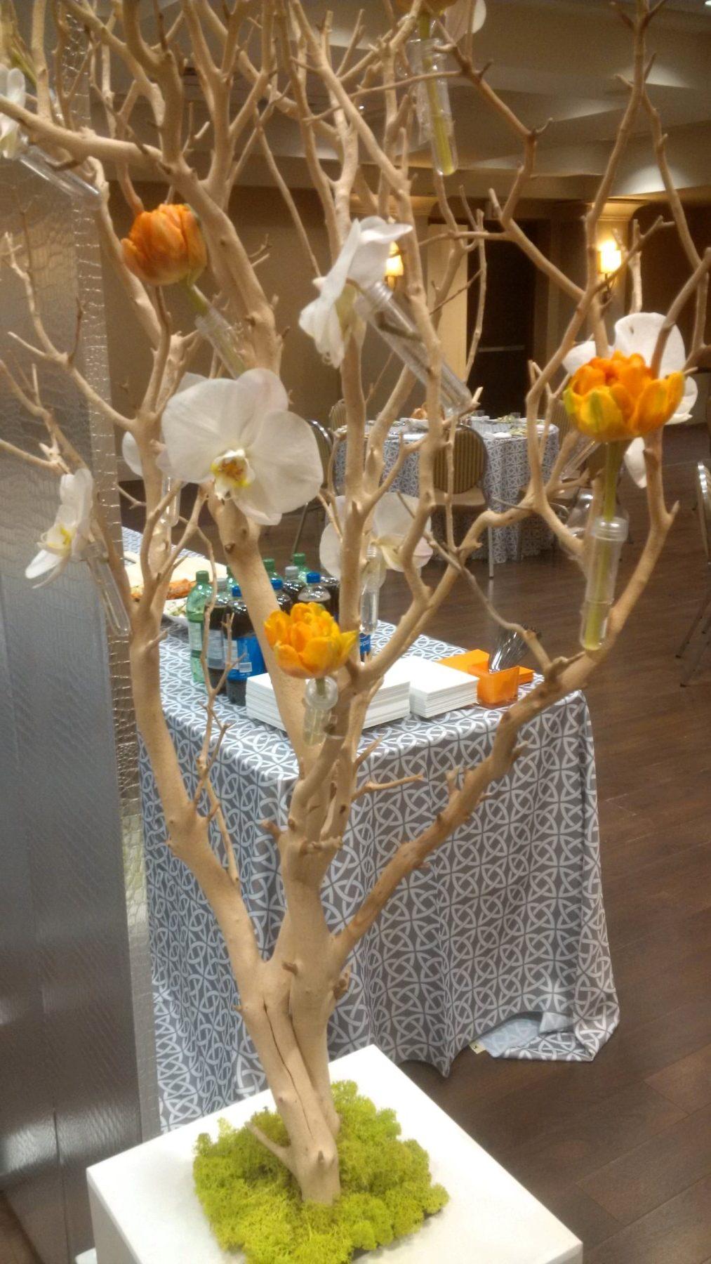 Manzanita branches with base eventful decor rentals